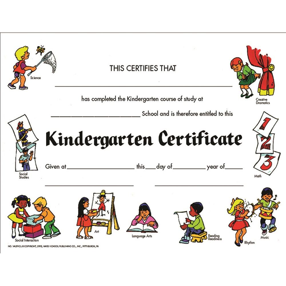 H-VA201CL - Certificates Kindegarten Set Of 30 in Certificates
