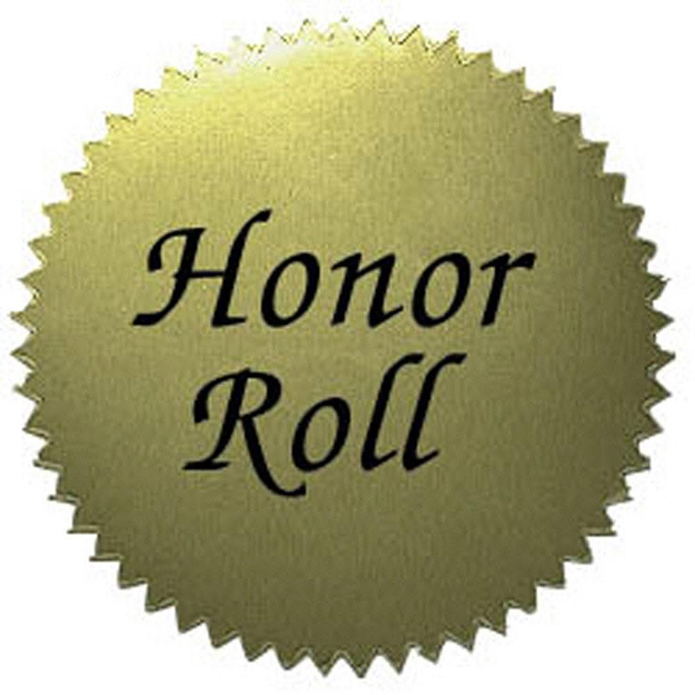 H-VA317 - Stickers Gold Honor Roll 50/Pk 2 Diameter in Awards