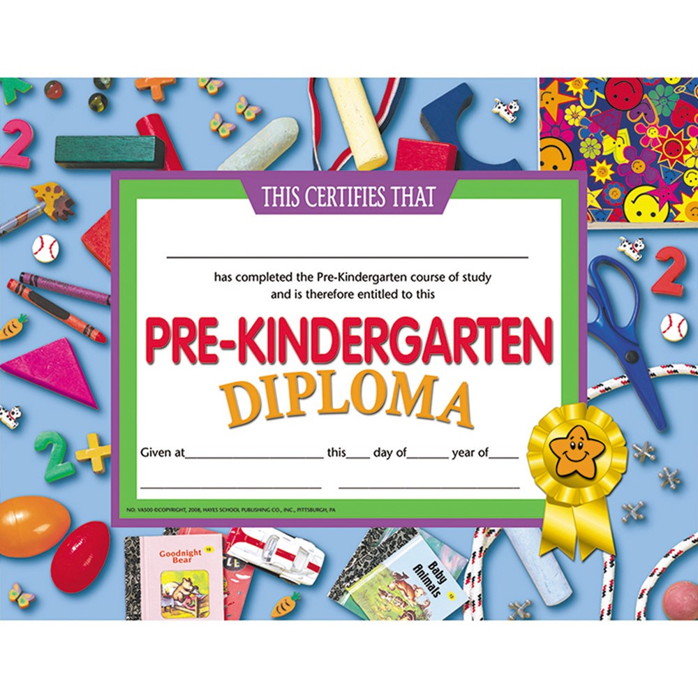 Pre-Kindergarten Diploma - H-VA500 | Flipside