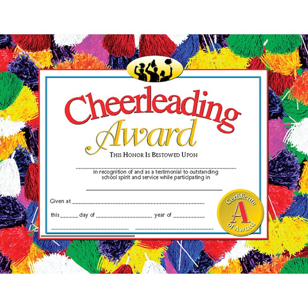 H-VA531 - Cheerleading Award 30Pk 8.5 X 11 Certificates in Physical Fitness