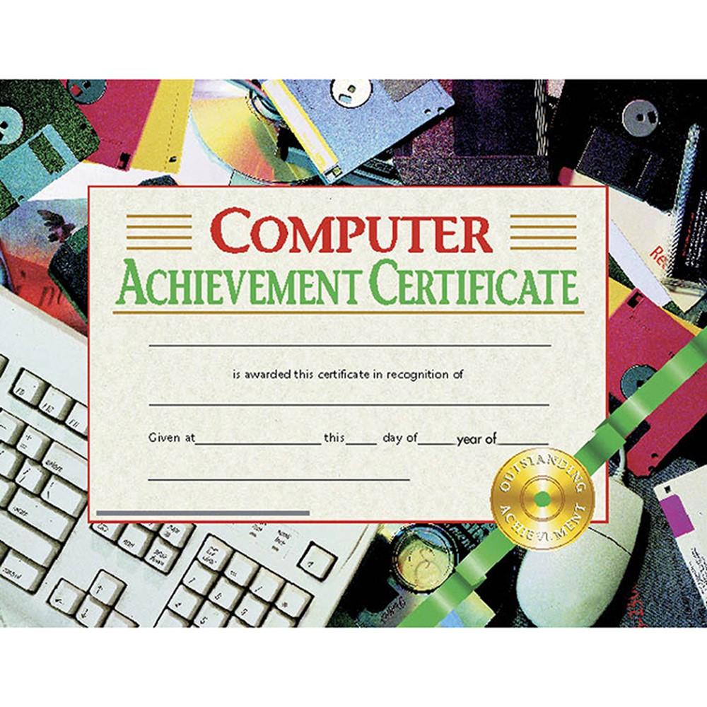 H-VA535 - Computer Achievement 30/Pk 8.5X11 Certificates in Certificates