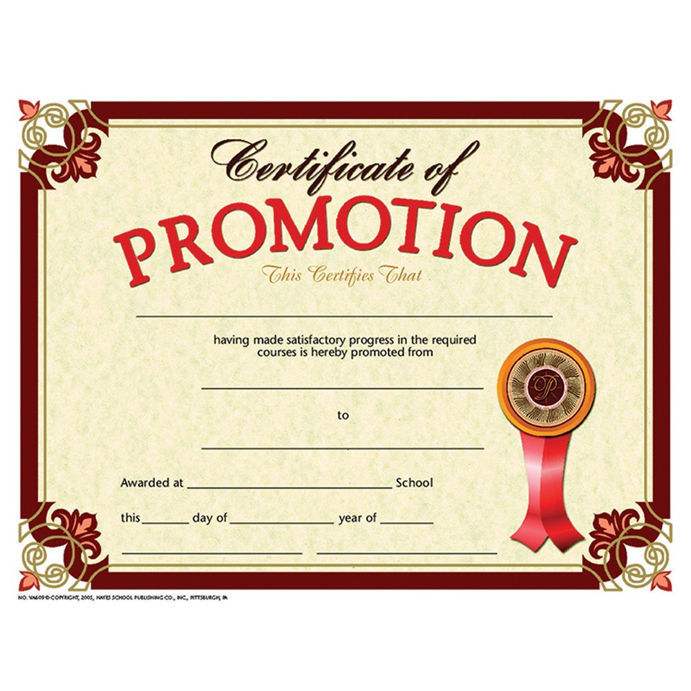 H-VA609 - Certificate Promotion 30-Set in Certificates
