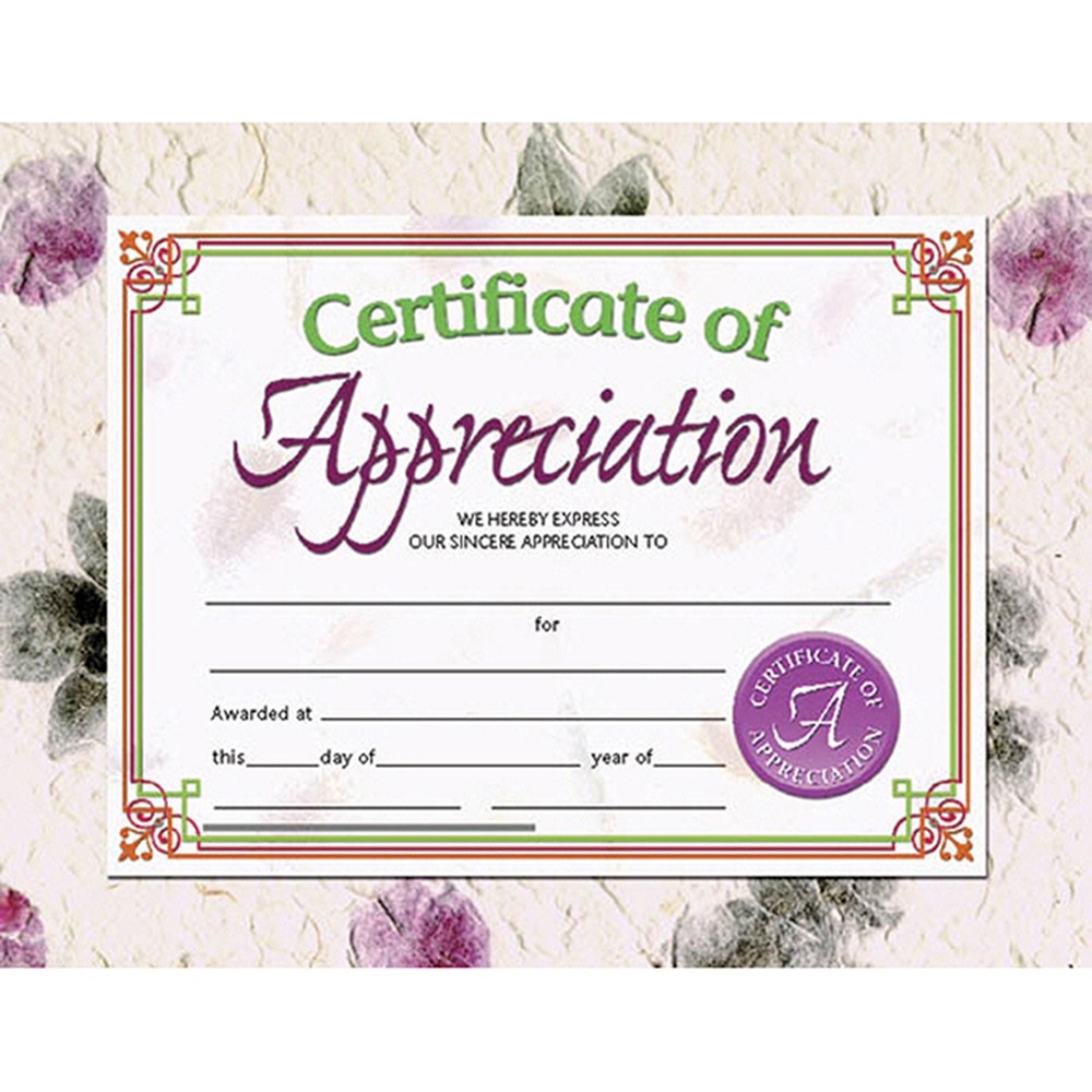 H-VA614 - Certificates Of Appreciation 30 Pk 8.5 X 11 Inkjet Laser in Certificates