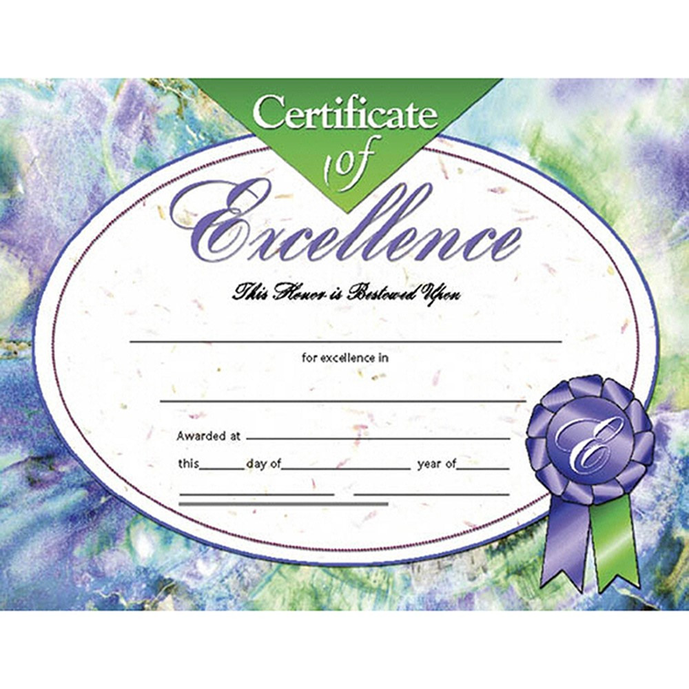 H-VA621 - Certificates Of Excellence 30/Pk 8.5 X 11 Inkjet Laser in Certificates