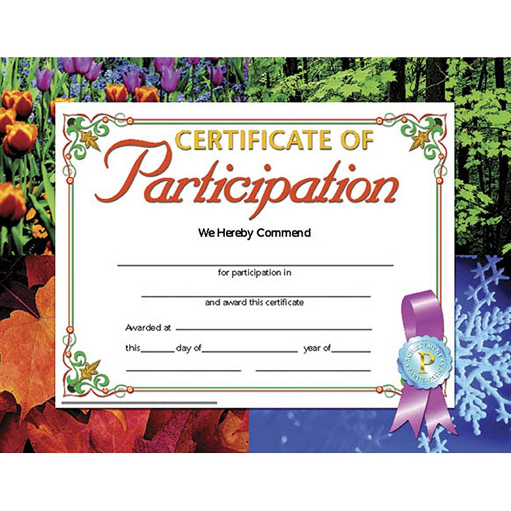 Certificates Of Participation 30 Pk 8.5 X 11 Inkjet Laser