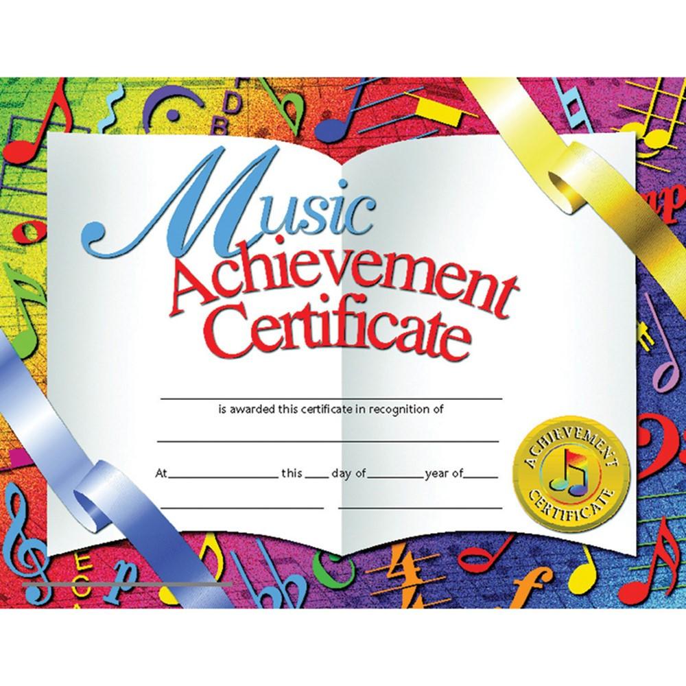 H-VA636 - Certificates Music 30/Pk 8.5 X 11 Achievement Inkjet Laser in Music