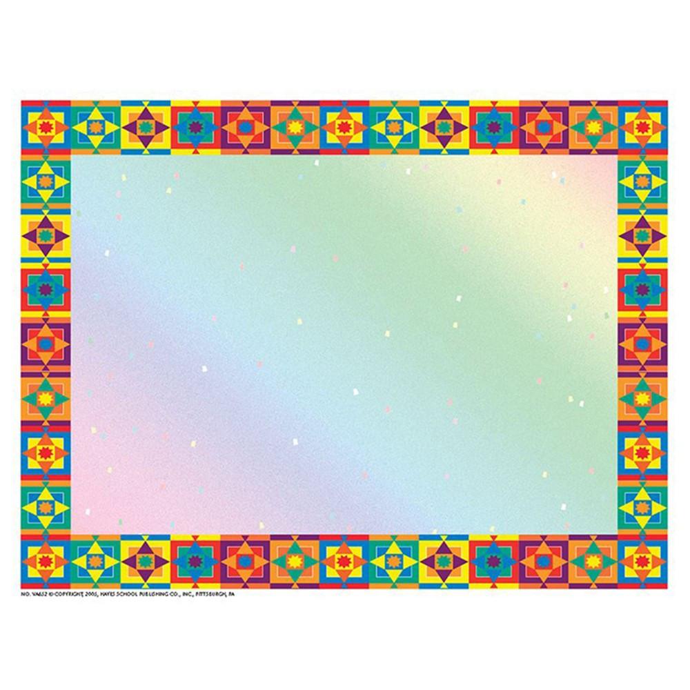 H-VA652 - Multicolored Border Certificate Border/Computer Paper in Certificates