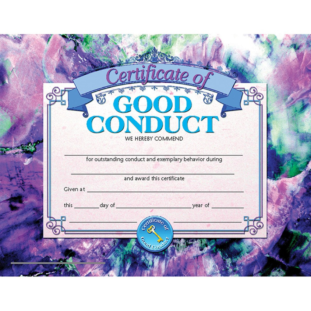 Certificates Of Good Conduct 30 Pk 8.5 X 11 Inkjet Laser