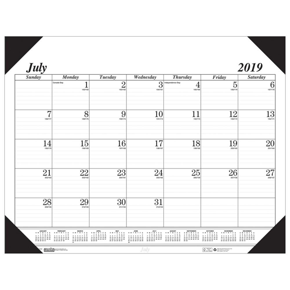 HOD12502 - Academic Economy Desk Pad 14-Month Jul-Aug in Calendars