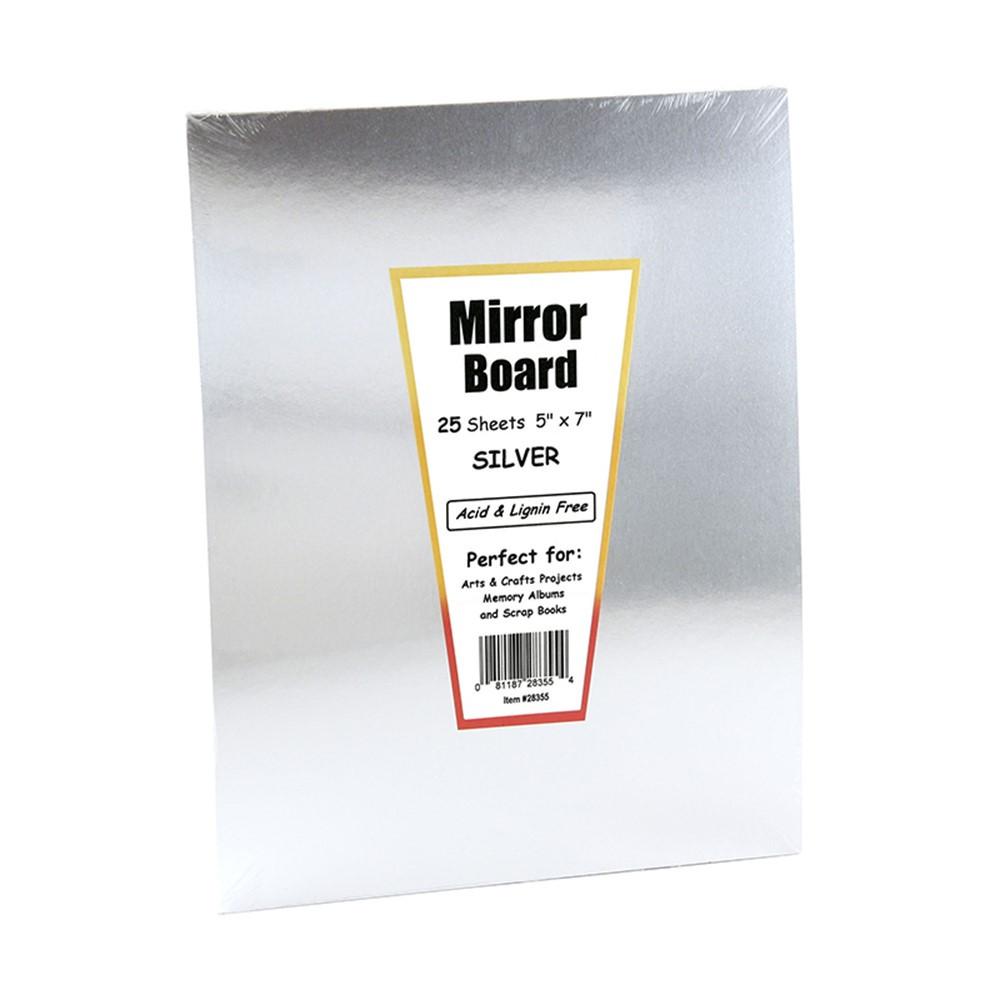 HYG28355 - Mirror Board 5 X 7 25 Sheets in Mirrors