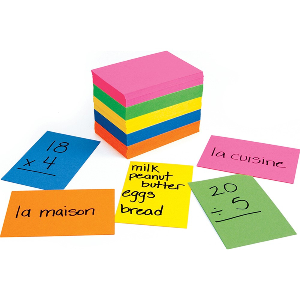 HYG42317 - Bright Flash Cards 2X3 in Index Cards