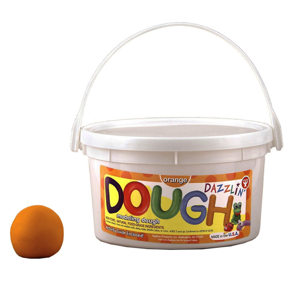 HYG48306 - Dazzlin Dough Orange 3 Lb Tub in Dough & Dough Tools