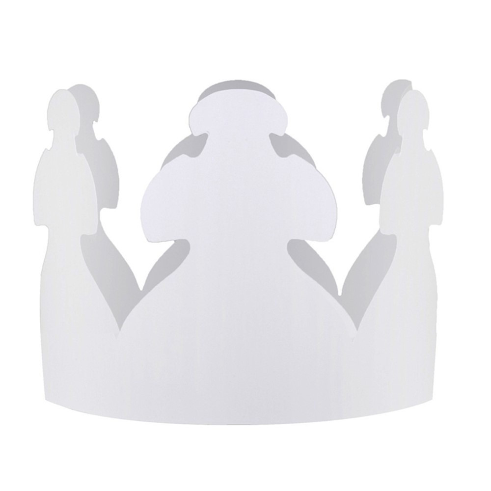 HYG65243 - White Crowns Pack Of 24 in Crowns