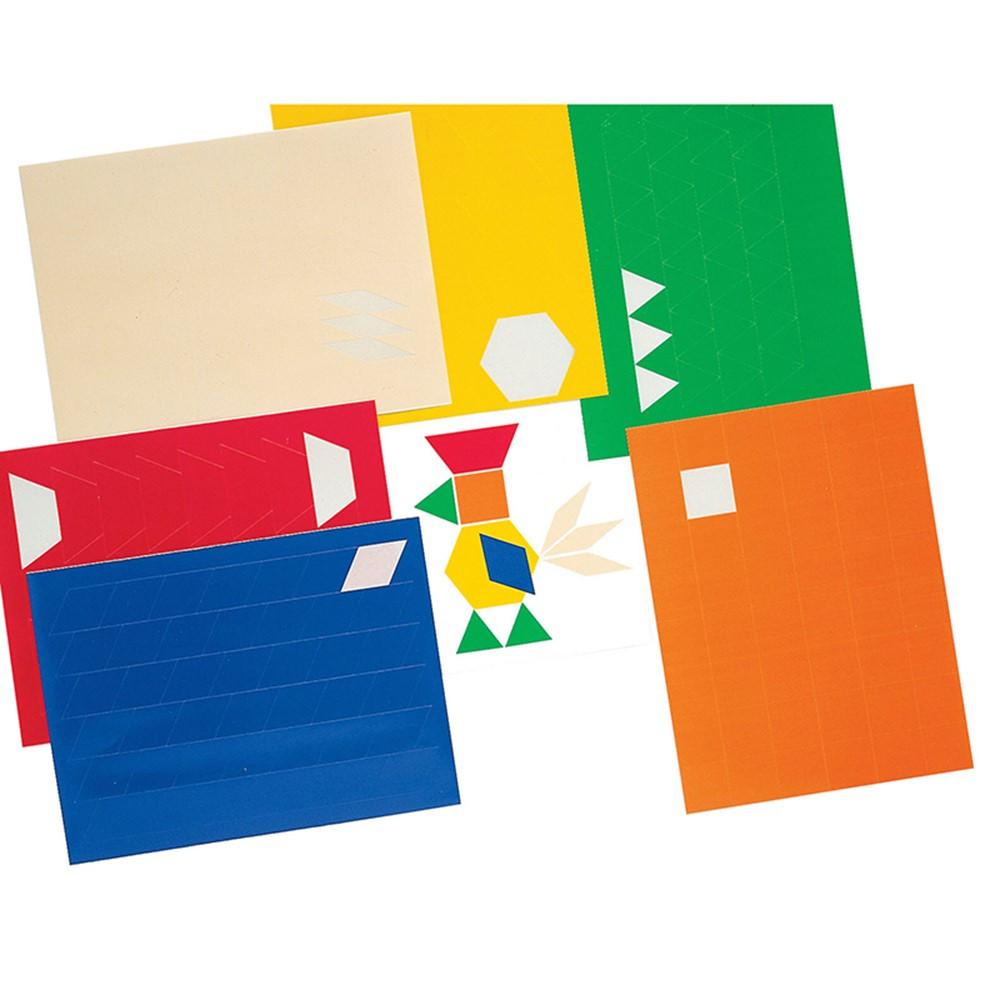 ID-34424 - Pattern Blocks Stickers 900-Pk Reusable in Patterning