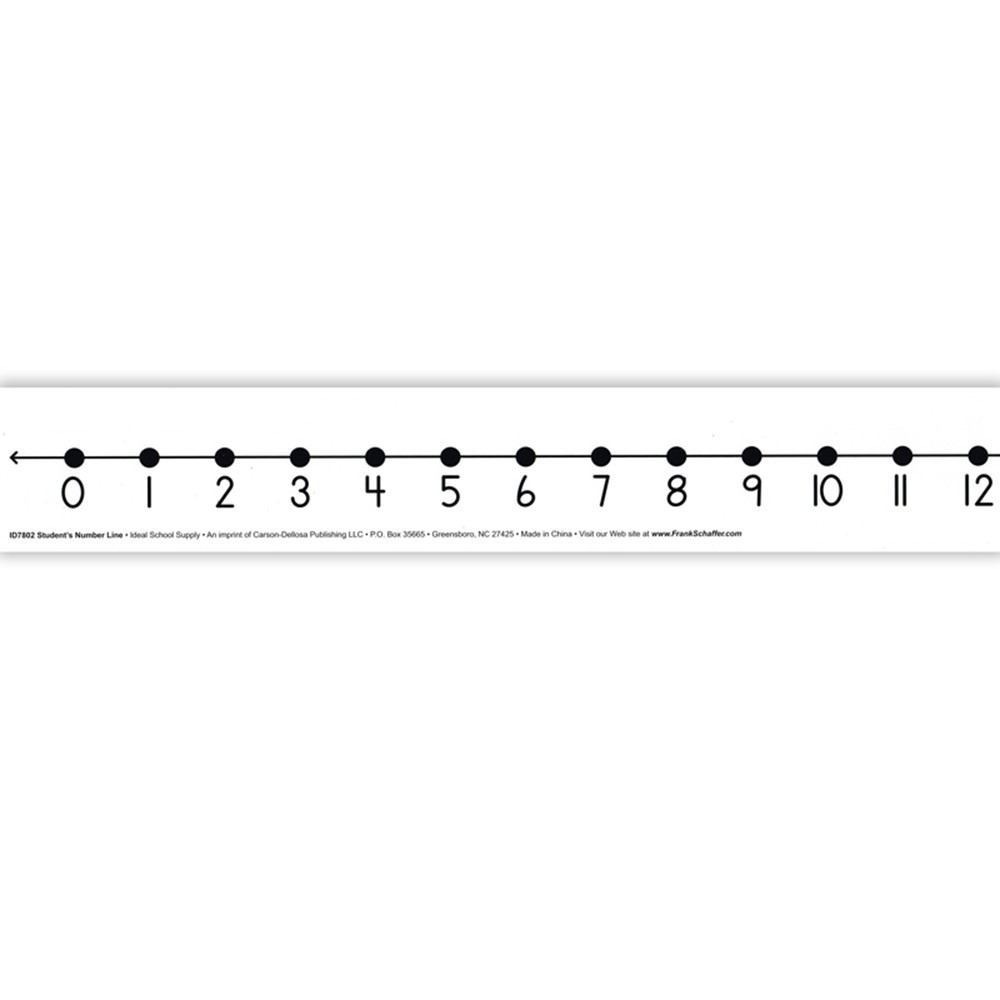 ID-7804 - Number Line Student W/O 12/Pk Adhesive 2 X 24 Mark-On/Wipe-Off in Number Lines