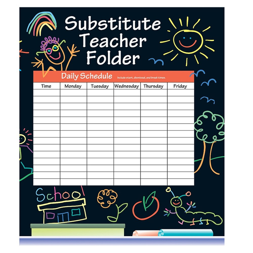 IF-468SF - Substitute Folder Elem Kid 24-Pk 9 X 11 W/ Pocket in Substitute Teachers