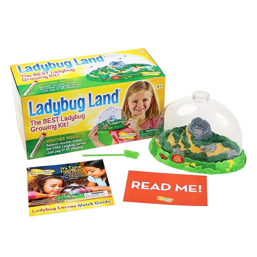 Set of 3 INSECT LORE LADYBUG LAND