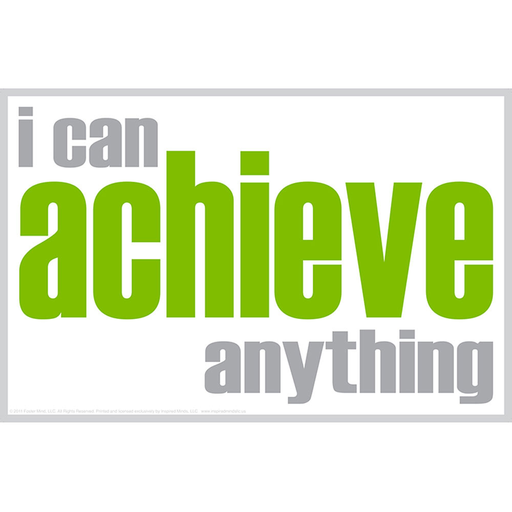 ISM0013P - I Can Achieve Poster in Motivational
