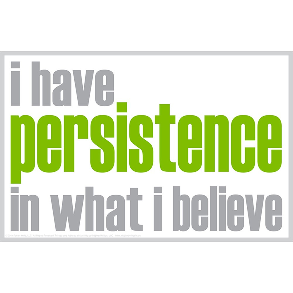 ISM0020P - I Have Persistence Poster in Motivational