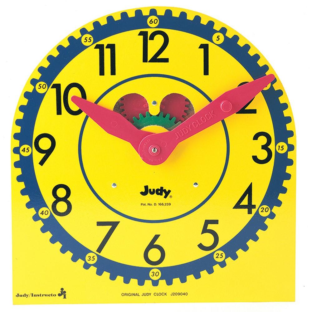 J-209040 - Original Judy Clock 12-3/4 X 13-1/2 Wood W/ Standard in Time
