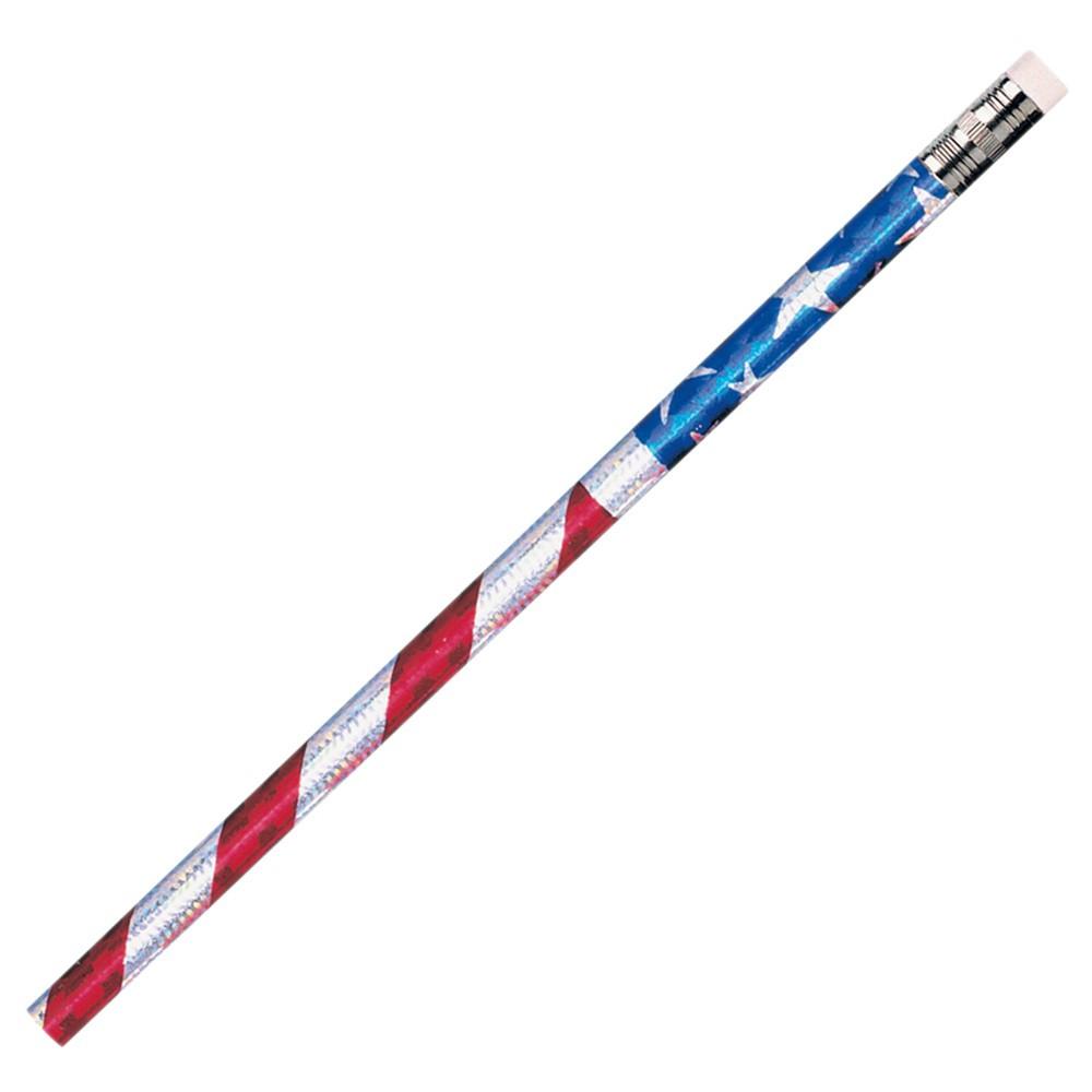 JRM7662B - Pencils Glitz Stars & Stripes 12/Pk in Pencils & Accessories