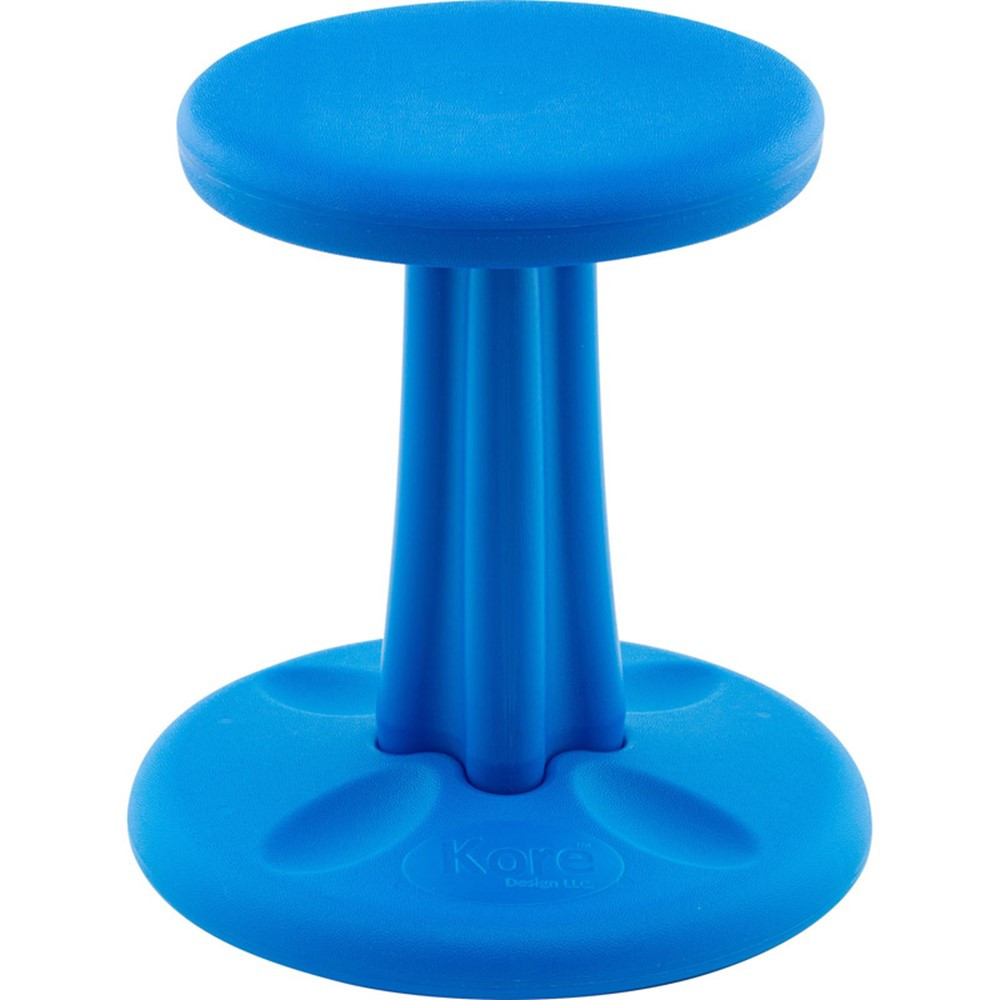 Kids kore wobble chair 14in blue kd 113 kore design furniture