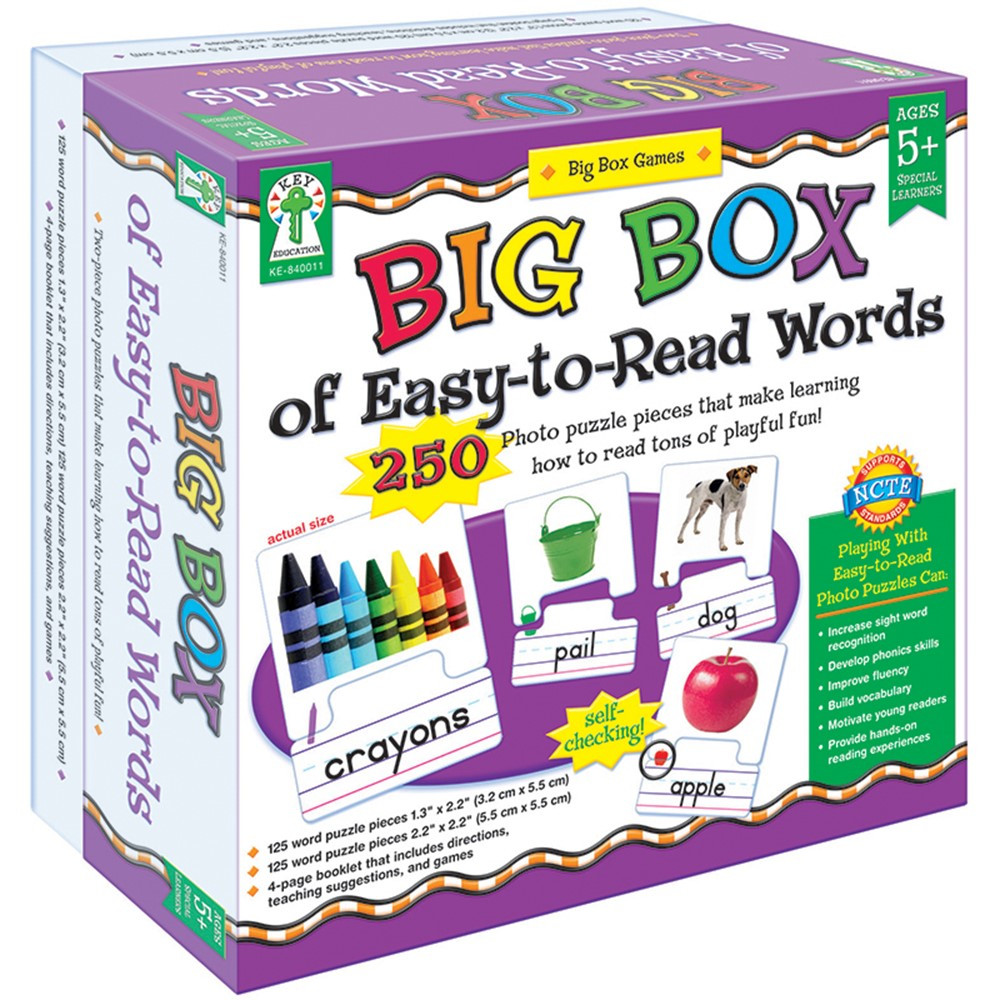 KE-840011 - Big Box Of Easy To Read Words Game Age 5+ Special Education in Games