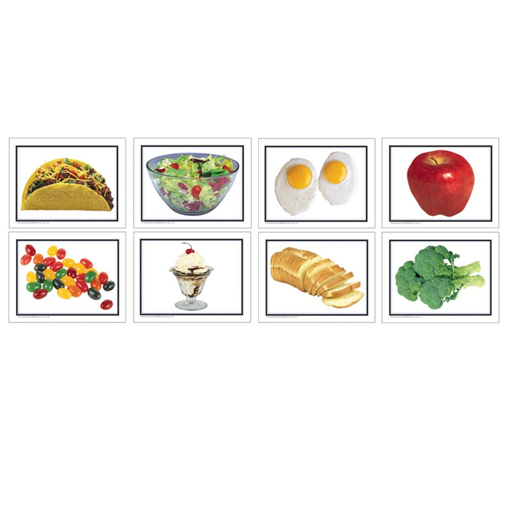 KE-845004 - Photographic Learning Cards Nouns Food in Language Skills