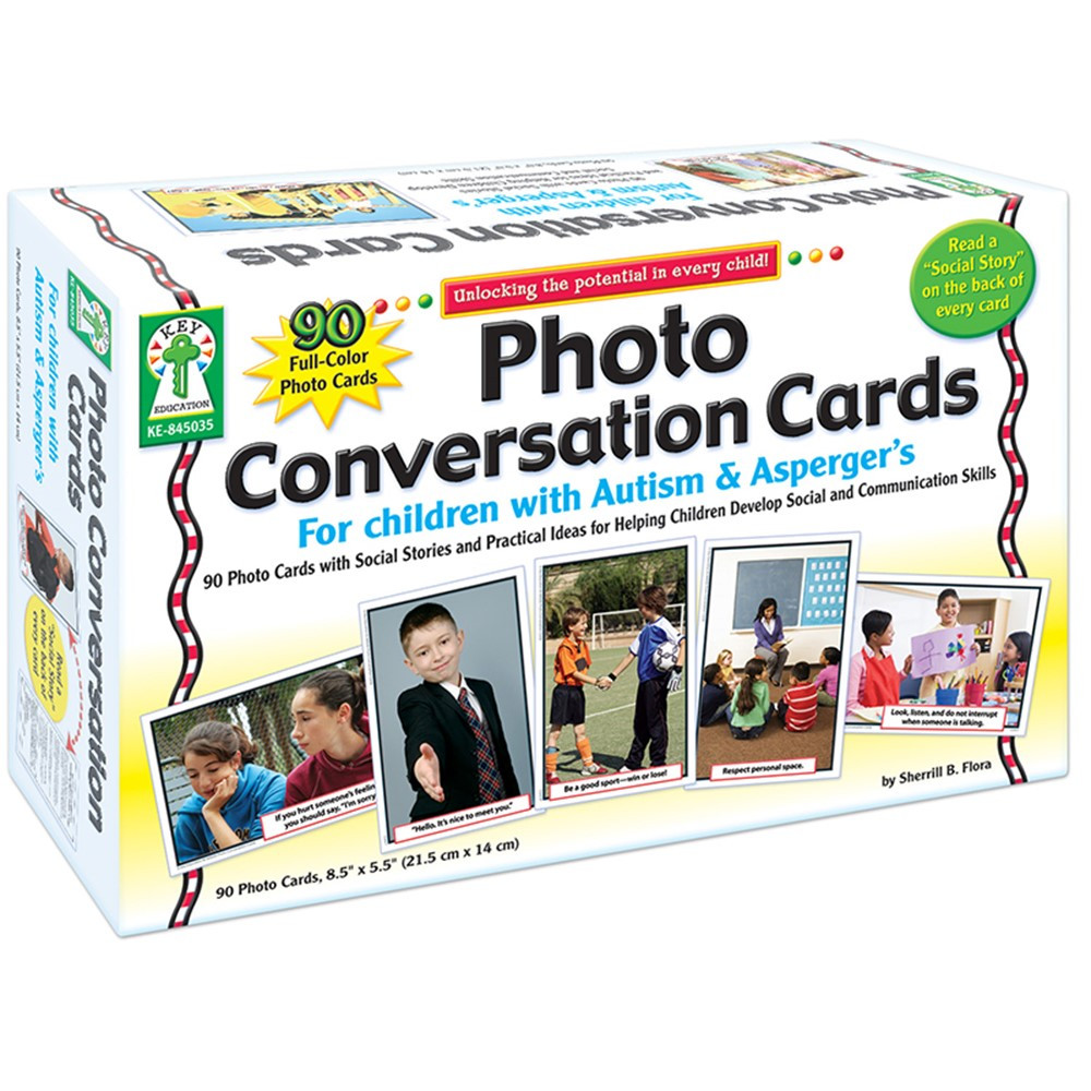 KE-845035 - Photo Conversation Cards For Children With Autism And Aspergers in Flash Cards
