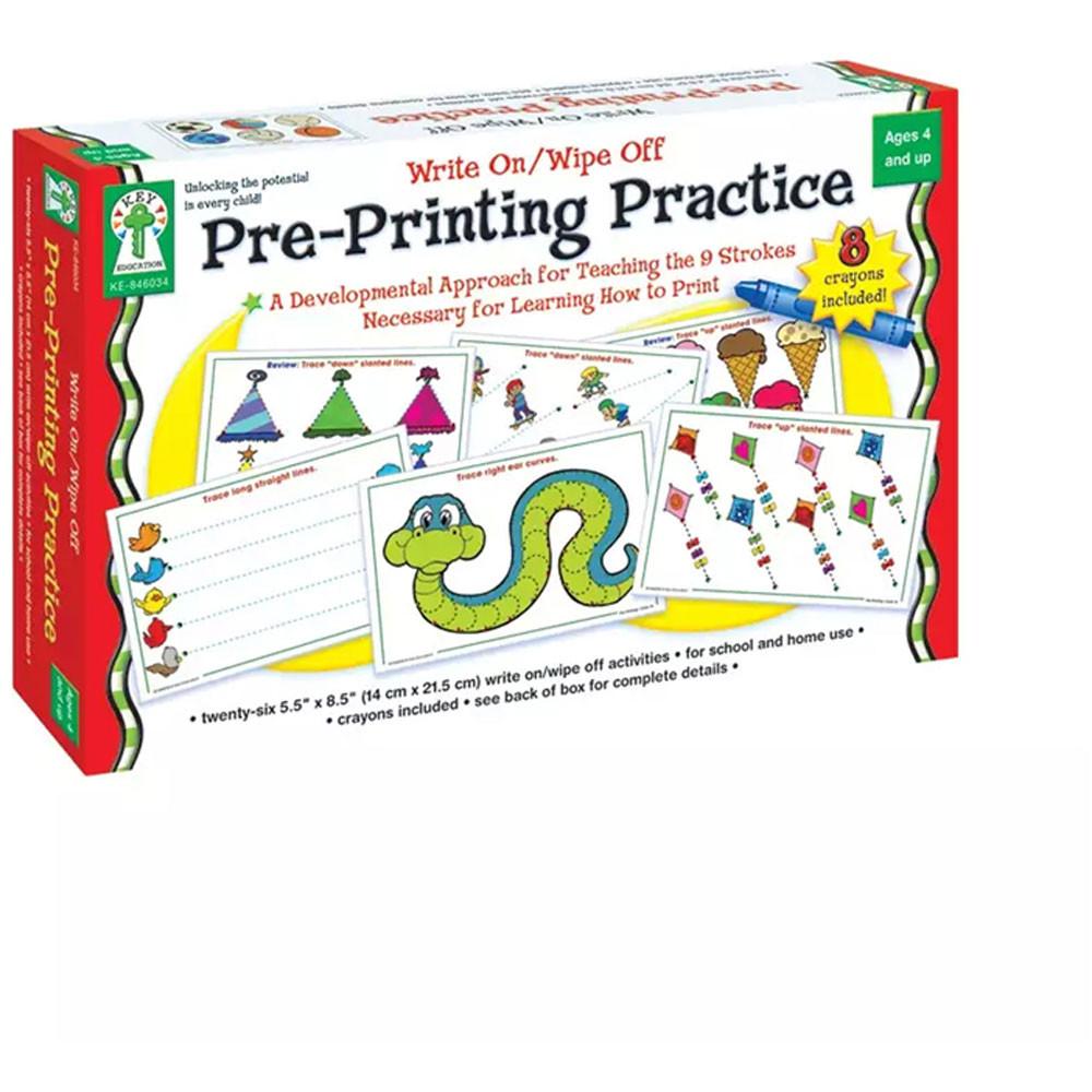 KE-846034 - Write On/Wipe Off Pre-Printing Practice in Dry Erase Sheets