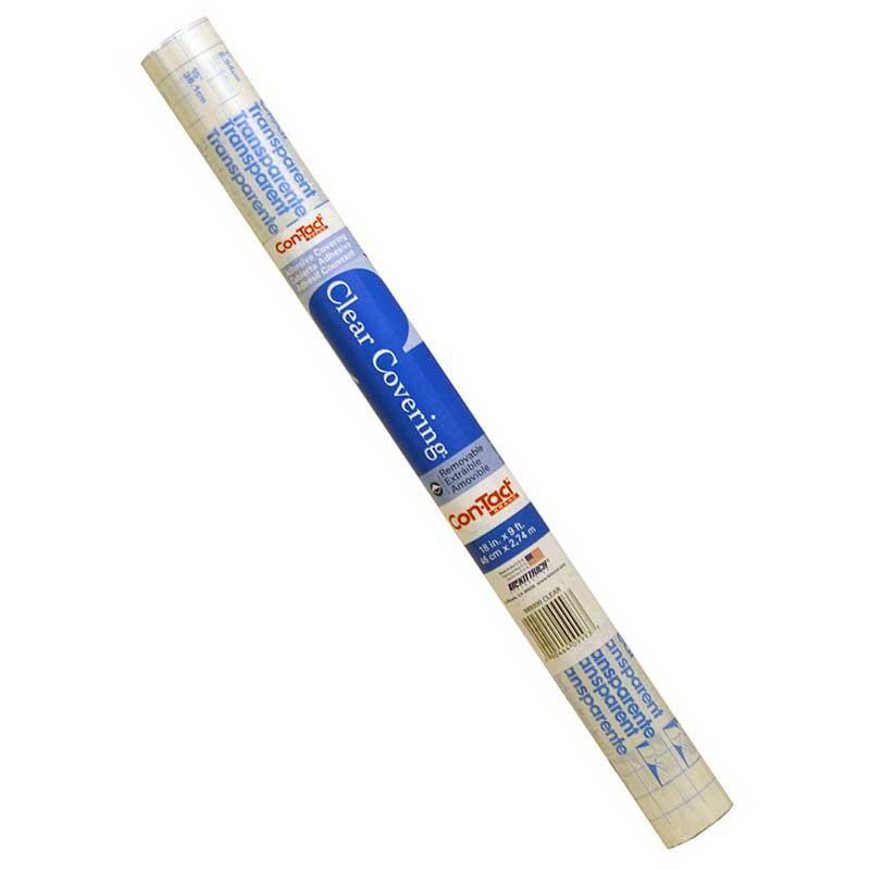 KIT9993 - Contact Paper Rolls 18X3 Yd Clear in Bulletin Board & Kraft Rolls