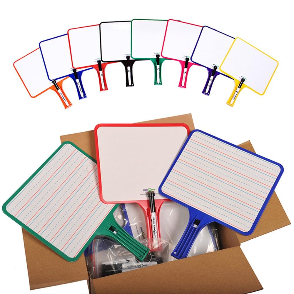 KLS5132 - Kleenslate Dry Erase Paddles 24Pk Rectangular Classroom Set in Dry Erase Boards