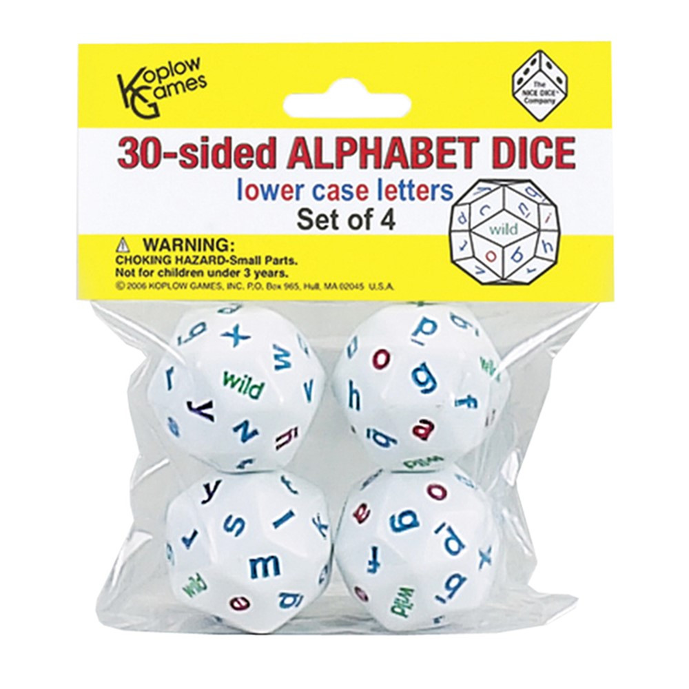 KOP12985 - Alphabet Dice 4 Colors in Dice