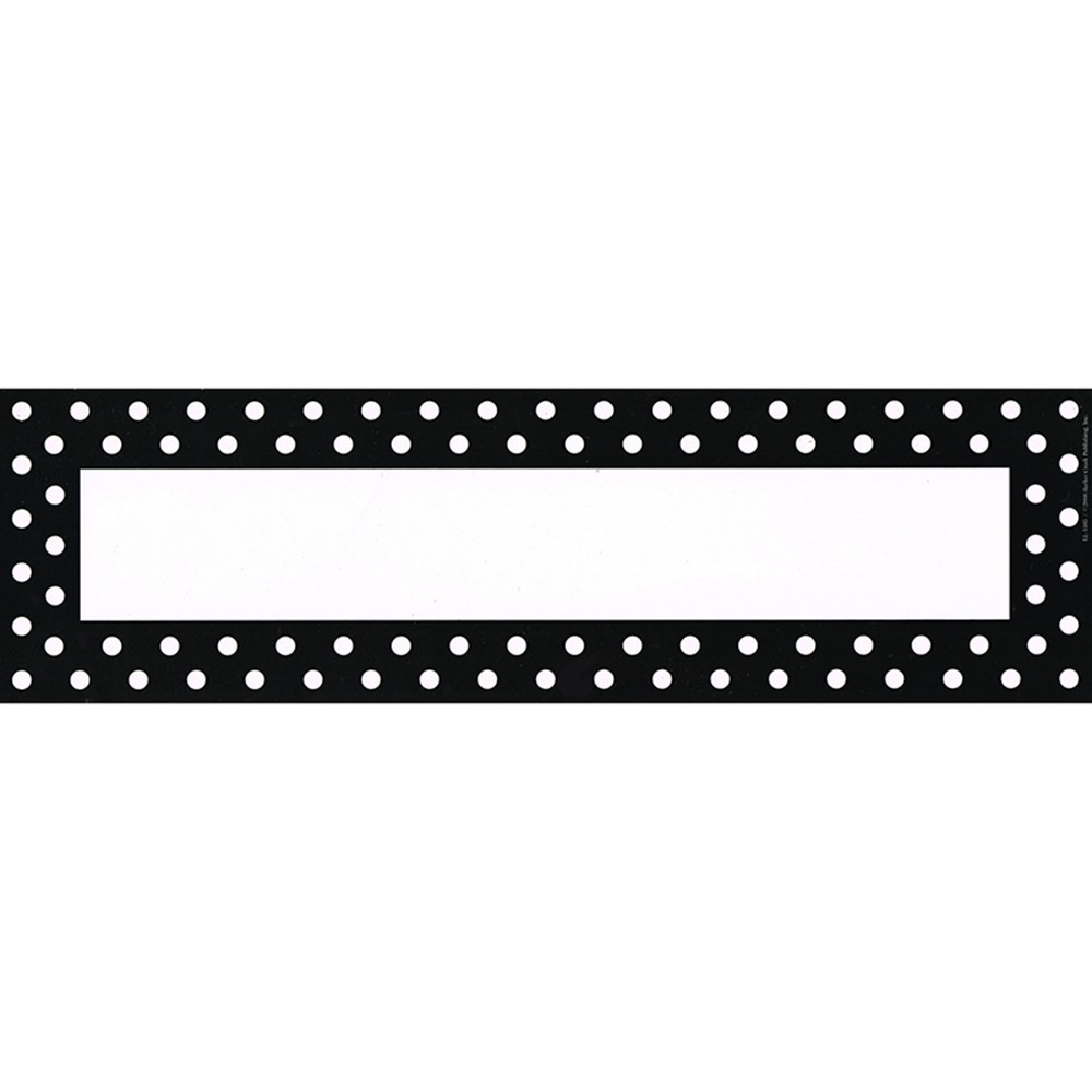 LAS1405 - Remember Me Desk Tags Black Dots in Name Plates
