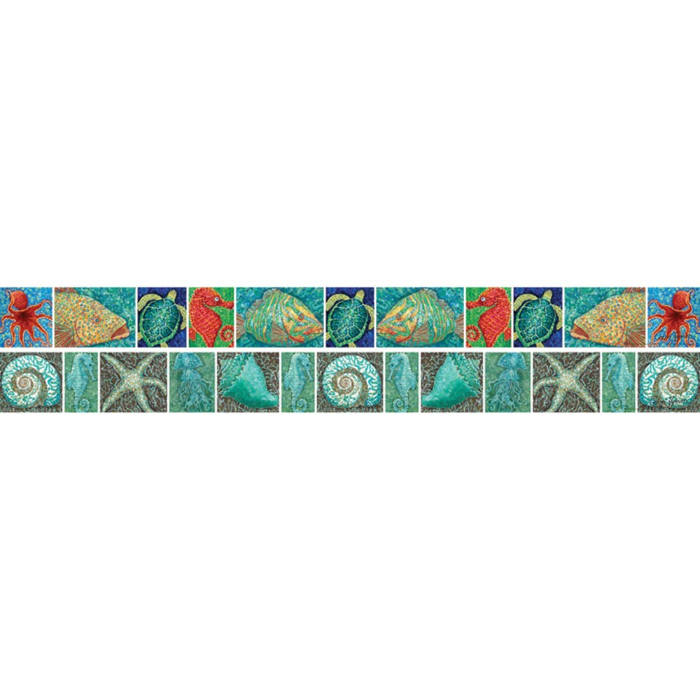 LAS967B - Surfs Up Coral Reef Double Sided Border in Border/trimmer