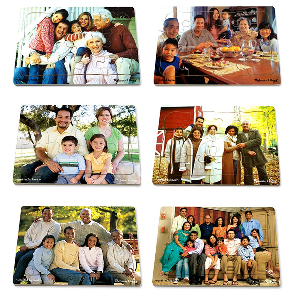 LCI1249 - Realistic Multigenerational Multicultural Family Puzzle Set in Puzzles