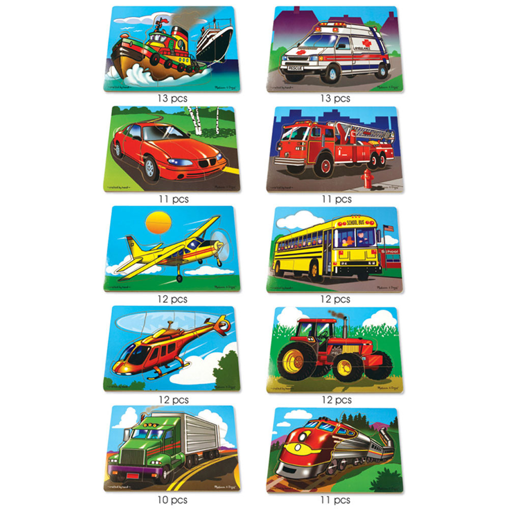 LCI1251 - Puzzle Set Favorite Vehicles in Wooden Puzzles
