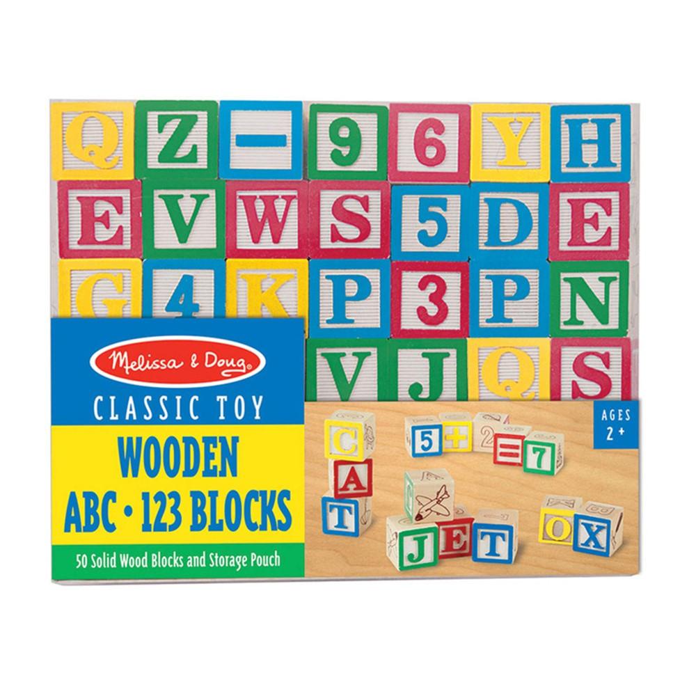 LCI1900 - Wooden Abc/123 Blocks in Blocks & Construction Play