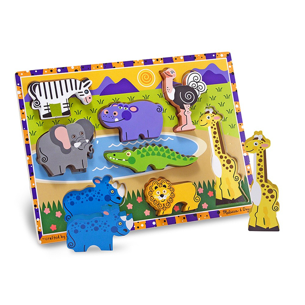 LCI3722 - Safari Chunky Puzzle in Wooden Puzzles