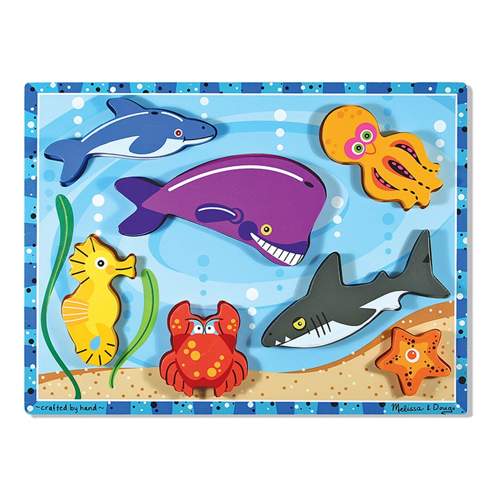 LCI3728 - Sea Creatures Chunky Puzzle in Wooden Puzzles