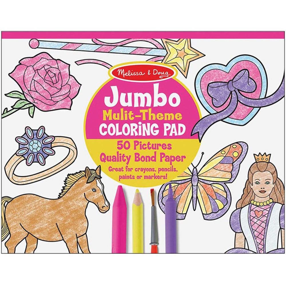LCI4225 - Jumbo Coloring Pad Pink 11 X 14 in Art Activity Books
