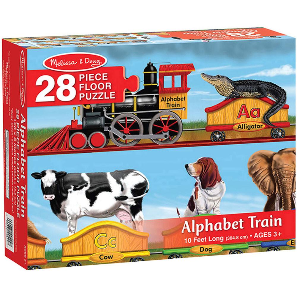 LCI424 - Floor Puzzle Alphabet Train in Alphabet Puzzles