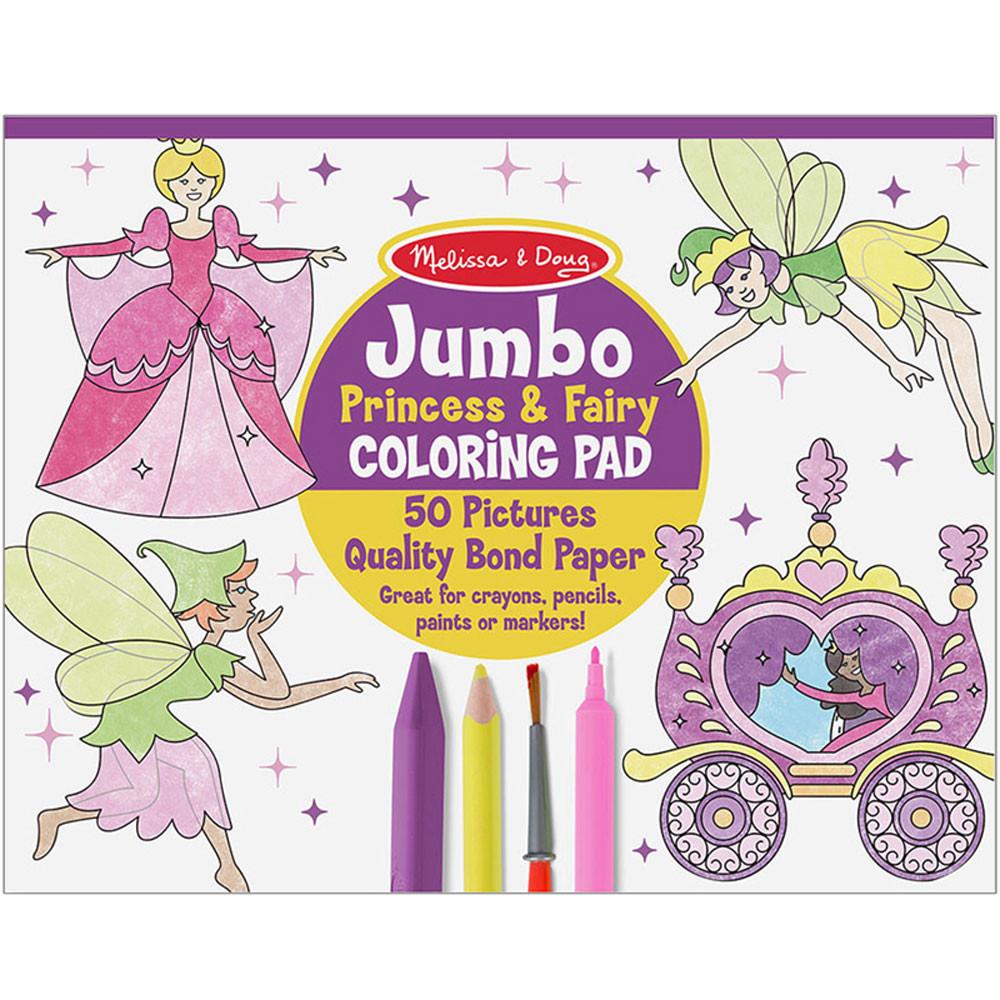 LCI4263 - Jumbo Coloring Pad Princess & Fairy in Art