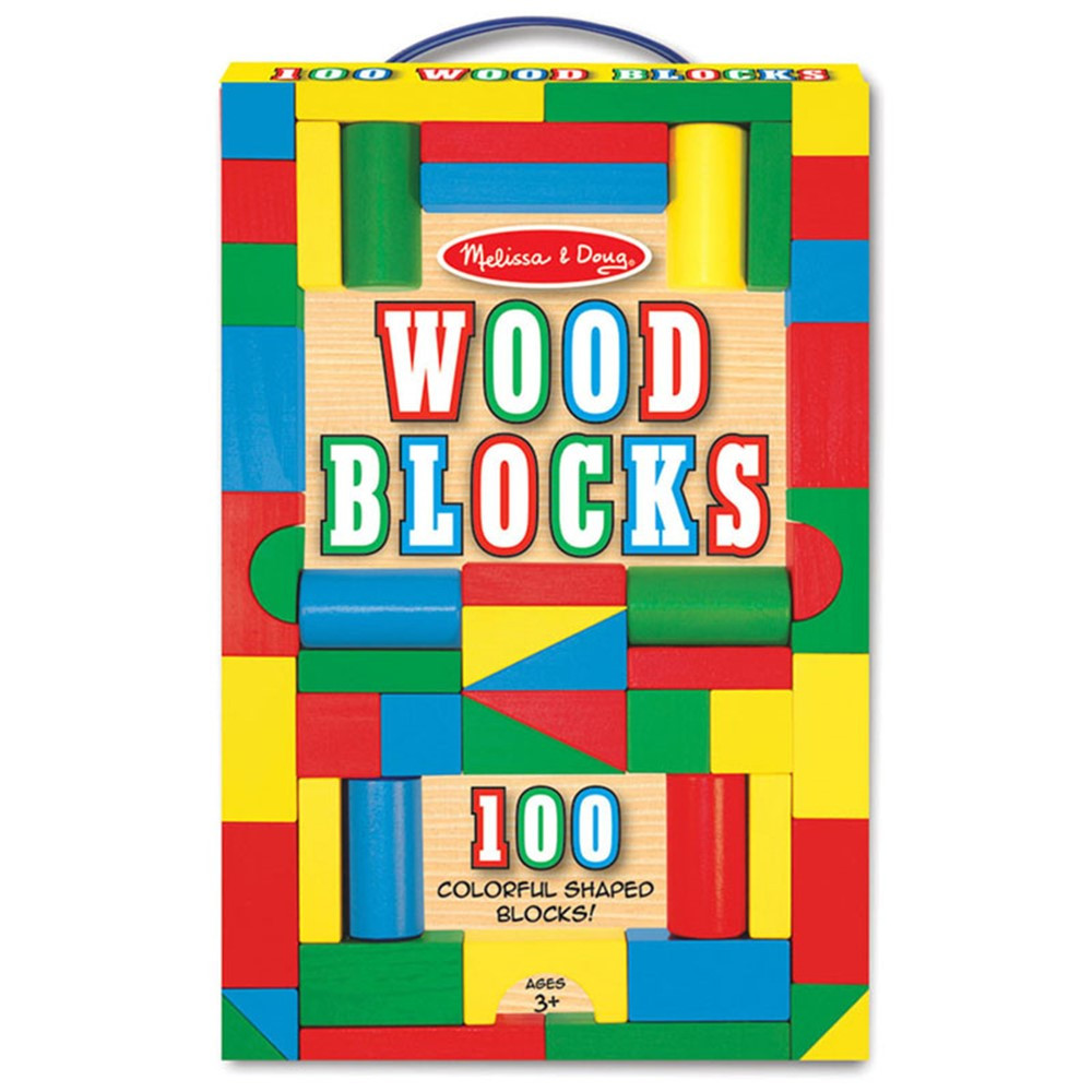 LCI481 - Painted Unit Block Sets 100-Pc Set in Blocks & Construction Play