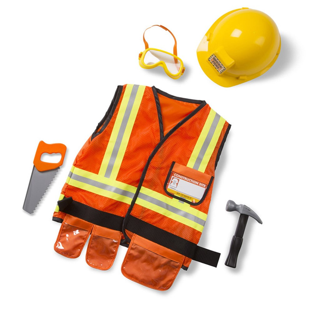 LCI4837 - Role Play Construction Worker Costume Set in Role Play