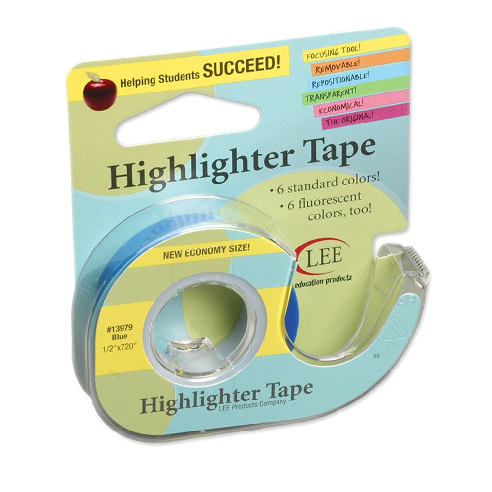 LEE13979 - Removable Highlighter Tape Blue in Tape & Tape Dispensers