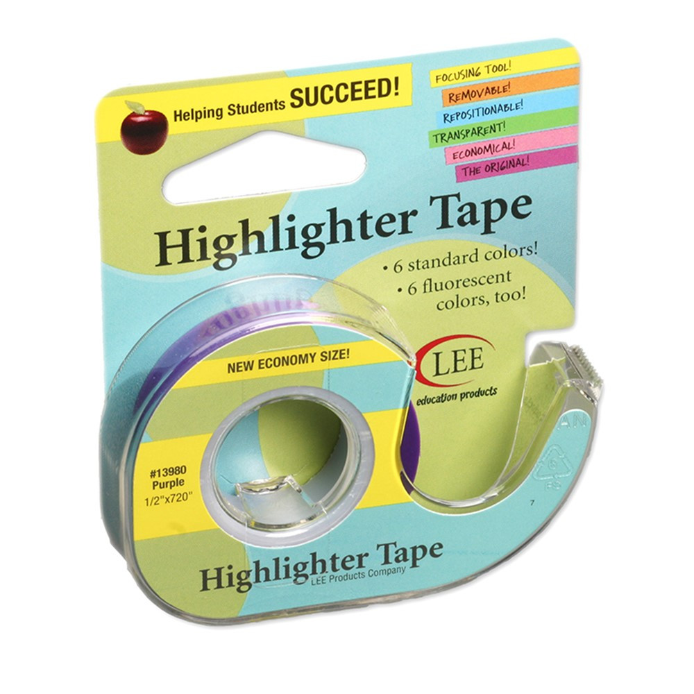 LEE13980 - Removable Highlighter Tape Purple in Tape & Tape Dispensers