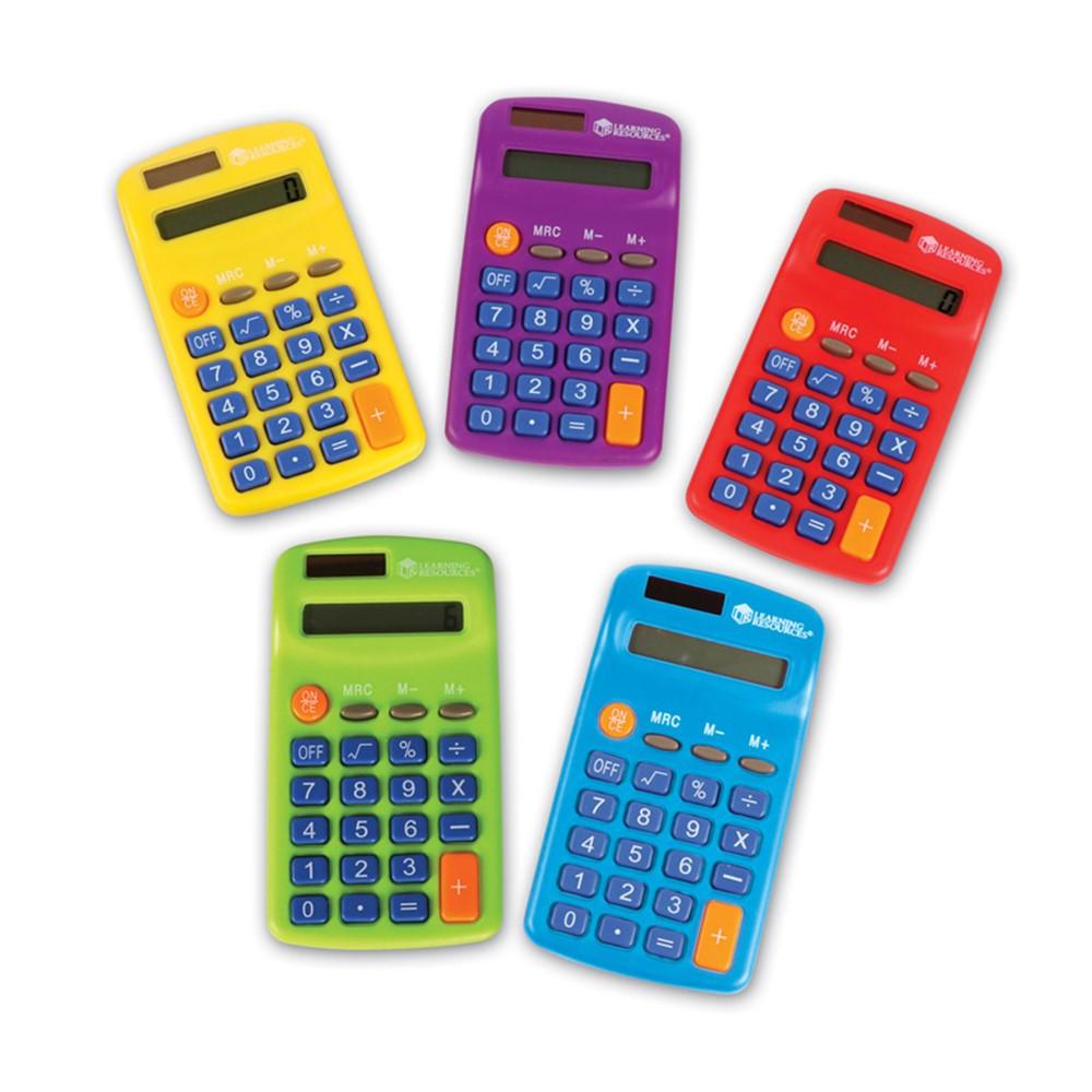 Rainbow Calculators, Set of 10 - LER0014 | Learning Resources | Calculators
