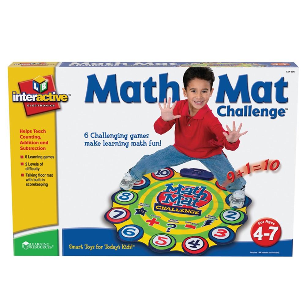 LER0047 - Math Mat Challenge Game Gr Pk & Up in Math