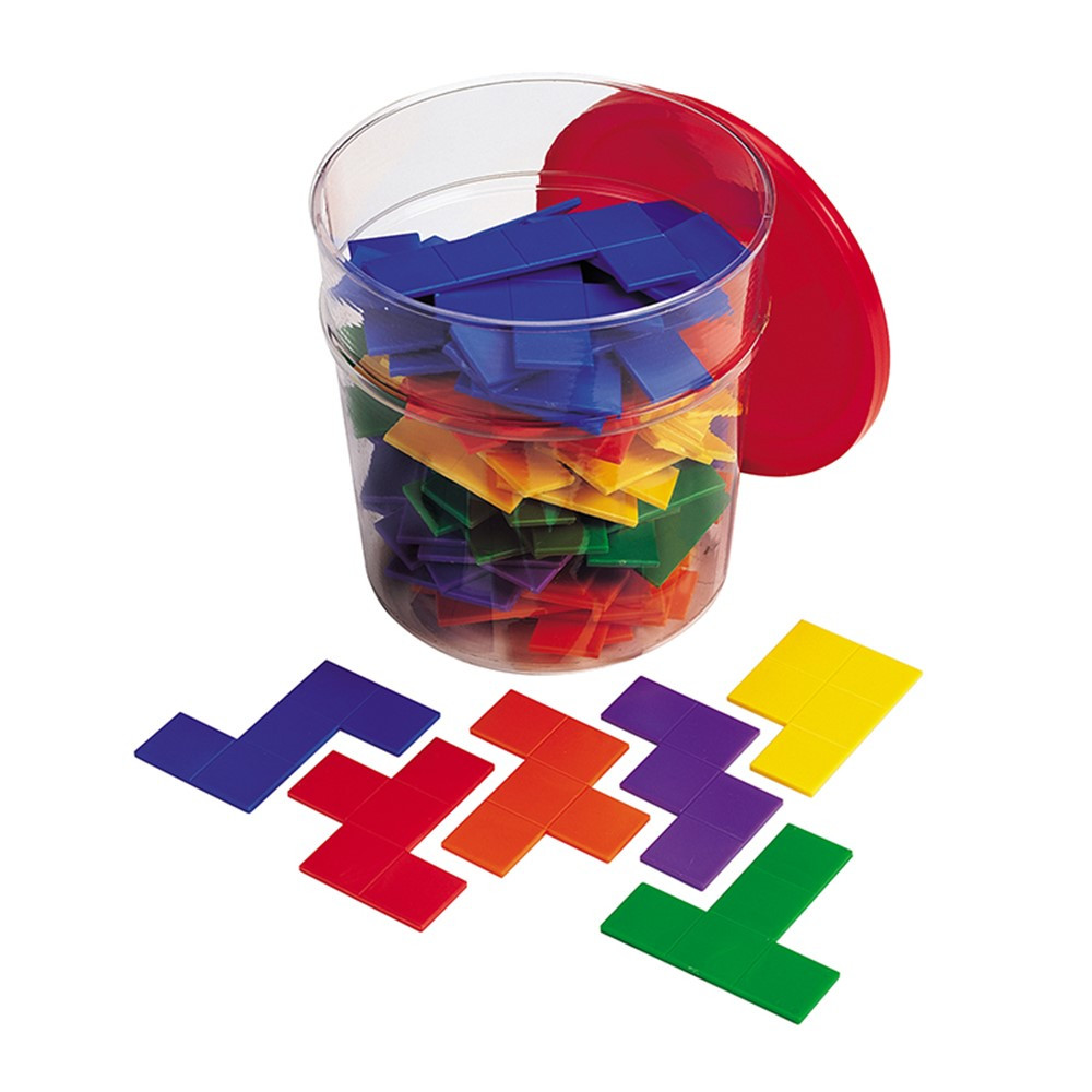 LER02866 - Rainbow Premier Pentominoes 6 Sets In Clear Tub in Patterning
